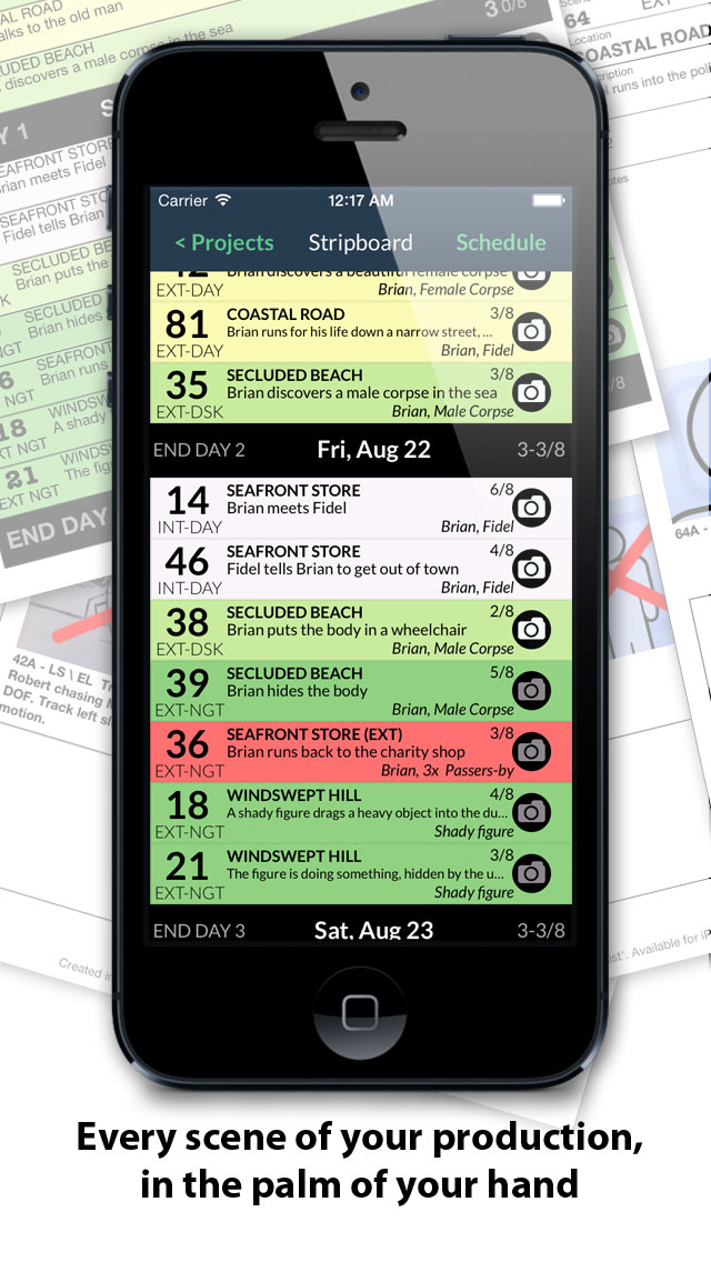 ShotList Scheduling And Tracking For Filmmakers Soluble Apps
