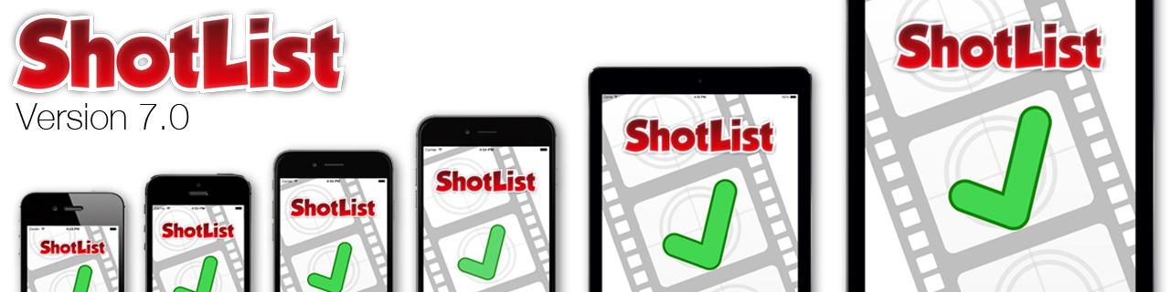 ShotList 7.0 update